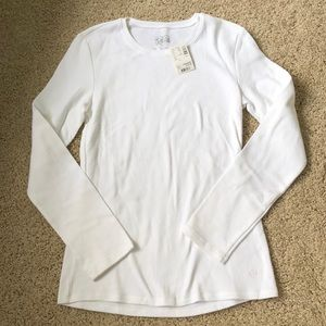 Justice white long sleeve